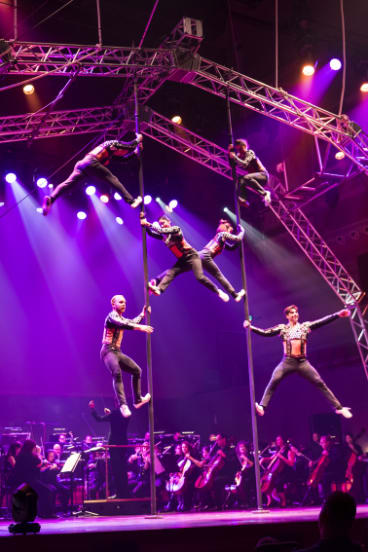 Circus Oz and the Melbourne Symphony Orchestra perform Tutti.