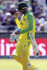 Casualty: Usman Khawaja retires against South Africa.
