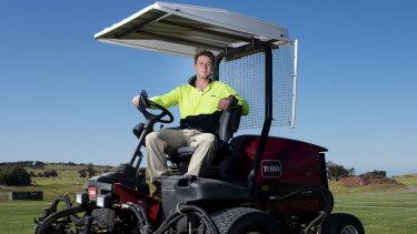 Warringah back-rower Ruaridh Mackenzie at Long Reef Golf Course.