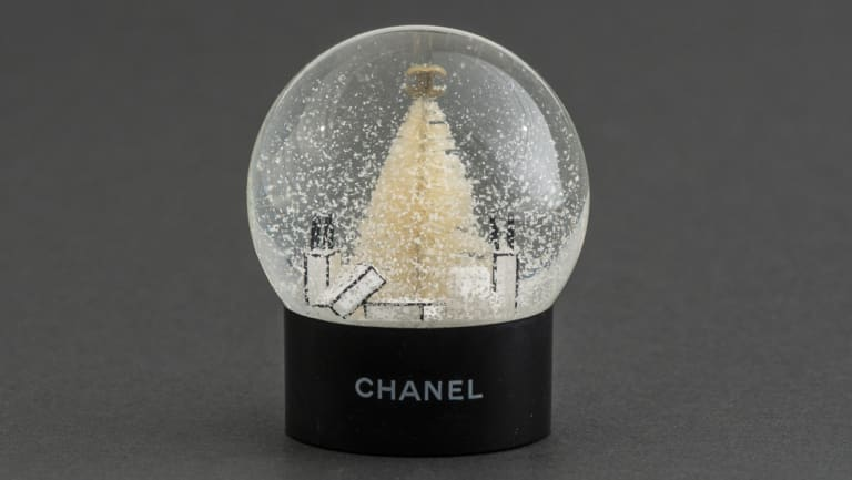 A Chanel snow dome? But, of course, darling. Another corker from Sally Hopman's collection.