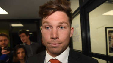 Toby Greene has been charged 17 times by the AFL tribunal.