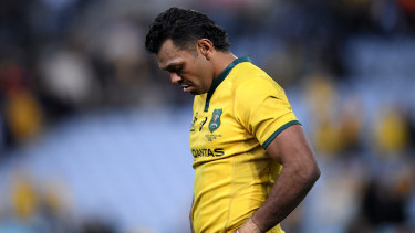 Feeling the pinch: Wallabies star Kurtley Beale has returned early from a holiday to answer questions surrounding a video which shows him in the presence of a group of men passing around a plate with white powder.