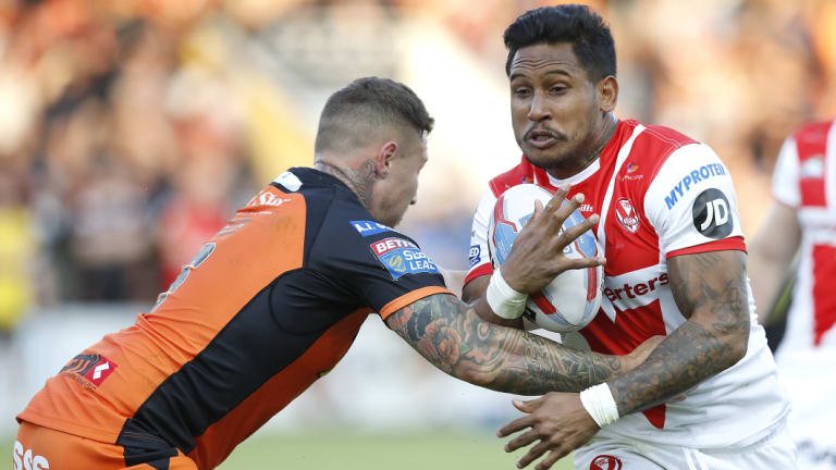 Sizzling form: Ben Barba has scored 28 tries in 27 games for St Helens.