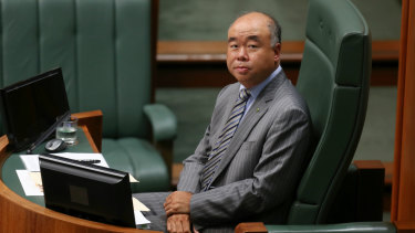 Moore MP Ian Goodenough in Federal Parliament.