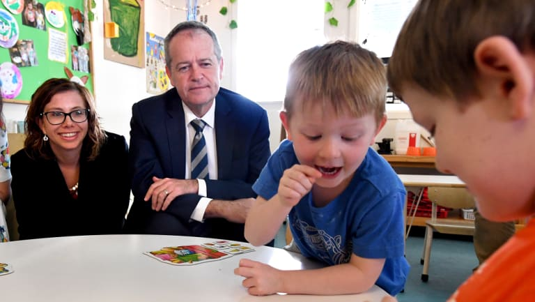 Labor leader Bill Shorten is escalating his policy fight on education.