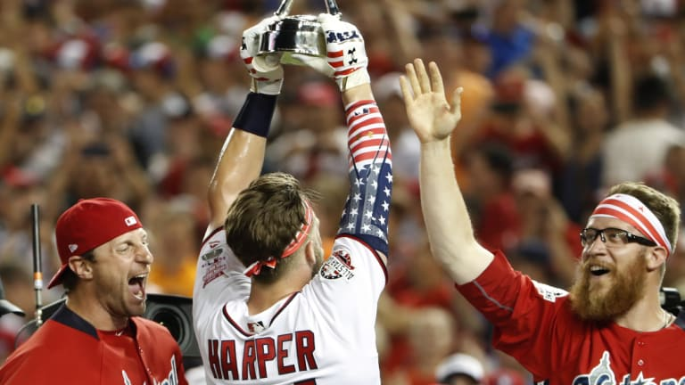 Harper added the All Star Home Run Derby trophy to his collection earlier this year.