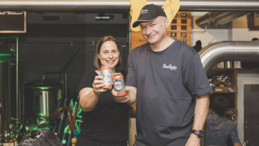 Owners and brewers Tracey Margrain and Richard Watkins.