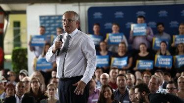 Scott Morrison conducted his faux campaign launch in Brisbane.