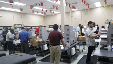 The recount continued at Broward County on Wednesday.