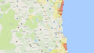 Unexploded ordnance map - Sunshine Coast.