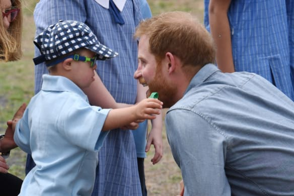 Prince Harry's incredibly sweet moment with young school boy in Dubbo