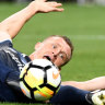 Besart Berisha blows up at Victory coach Kevin Muscat