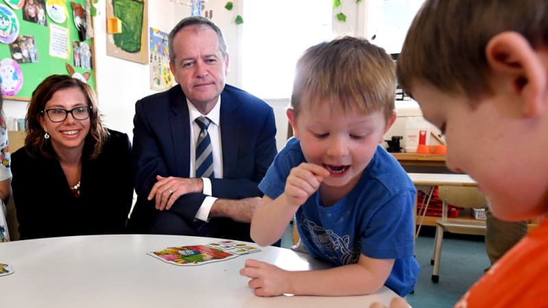 A Shorten Labor government would extend subsidised education to three-year-olds