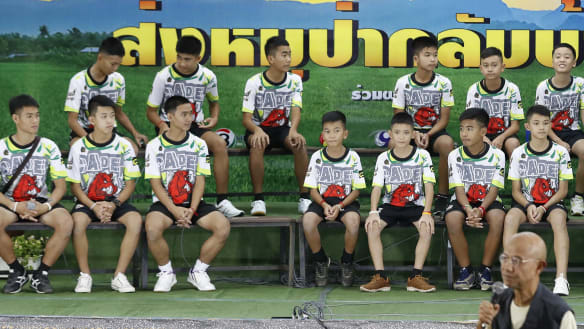 'Scared I would get told off by my mum': Thai cave boys front media