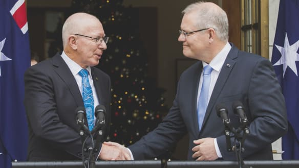 """Mr Morrison said Governor Hurley was his """"first and only choice"""" for the position."""