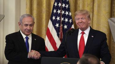 US President Donald Trump announced the plan alongside Israel's Prime Minister Benjamin Netanyahu.