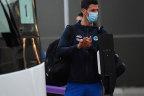 Novak Djokovic arrives to serve hotel quarantine in Adelaide before the Australian Open.