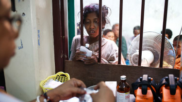 A dispensary in a clinic run by a foreign NGO to help poor people of Kolkata, in India.