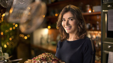 Nigella Lawson enjoys cooking for herself and her pea risotto is an easy meal for one.