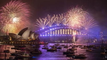 Sydney's renowned New Year's Eve fireworks.