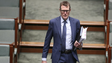 Federal Industrial Relations Minister and Attorney-General Christian Porter in Parliament House last week.
