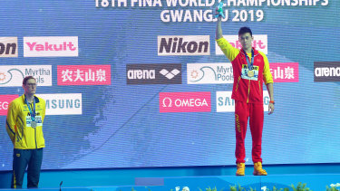 Mack Horton refused to stand on a podium with Sun Yang at the world championships.