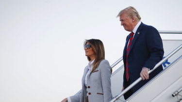 US President Donald Trump and first lady Melania