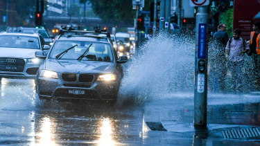 About 19mm of rain hit the Melbourne CBD before 9am.