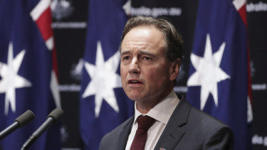 """Health Minister Greg Hunt says the flattening of the curve is cause for hope but Australians must """"stay the course""""."""