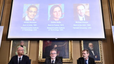"The Nobel prize in economics has been awarded to Abhijit Banerjee, Esther Duflo and Michael Kremer ""for their experimental approach to alleviating global poverty""."