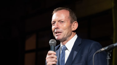 """His style sometimes grates but he has been a very good president,"" said Tony Abbott of Donald Trump."