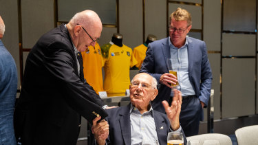 Former Governor-General Peter Cosgrove, former Wallaby Eric Tweedale and World Cup-winning captain Nick Farr-Jones.