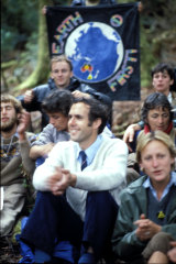 Bob Brown and fellow protesters at Tasmania's Franklin River in 1983.