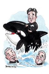 Clark Kirby will succeed Graham Burke as Village Roadshow chief executive. Illustration: John Shakespeare