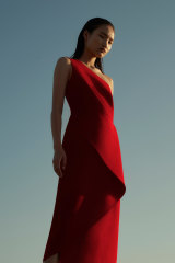 The dress Dion Lee has created for the staff at the marquee.