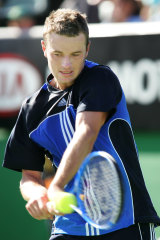Todd Reid playing at the Australian Open in 2005.