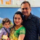 Bhaumik Dholakiya, wife Laxita and son Reyansh.