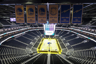 Golden State will play an NBA game in an empty stadium.