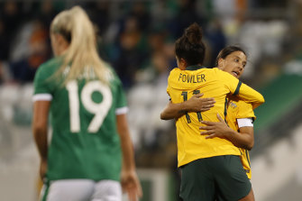 Mary Fowler's double was one of only two positives coach Tony Gustavsson could find from Australia's defeat to Ireland.