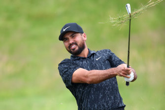 Jason Day during practice for The Open at Royal St George's this week.