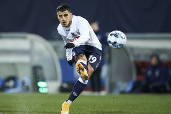 Daniel Arzani in action for AGL Aarhus in Denmark, where he aims to rebuild his career.