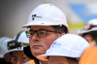 Premier Daniel Andrews faces pressure to  cut back on Victoria's infrastructure spending.