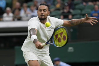 Nick Kyrgios will return to the court on Wednesday night AEST after falling foul of the 11pm Wimbledon curfew.