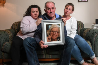 Terry Godfrey with daughters Kerry and Tracy, who lost their mother Harma Godfrey to pancreatic cancer last month.