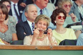 Princess Diana was a regular at Wimbledon in the 1980s and 1990s.