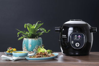 Tefal's Cook4Me+ has more than 150 recipes built in, with more available via its app.