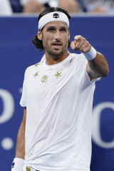 The other guy: Feliciano Lopez becomes a crowd favourite.