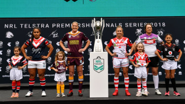 Ready to roll: The season launch of the NRL Women's Premiership.