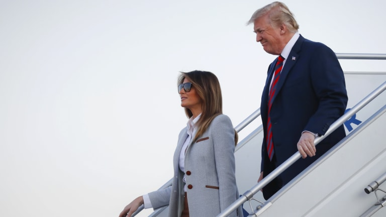 US President Donald Trump and first lady Melania.