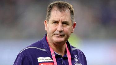 Unshaken: Fremantle coach Ross Lyon.